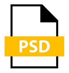file name extension psd type vector image vector image