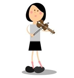 Girl musicant 16 vector