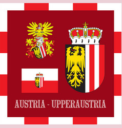 national ensigns of upperraustria - austria vector image vector image
