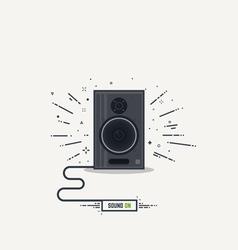 Speaker line icon vector image vector image