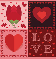 valentine decorations vector image vector image