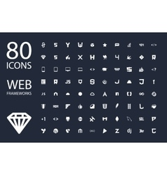 Web development framework icon set vector image vector image