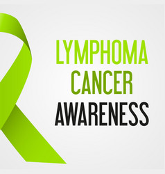 world lymphoma cancer day awareness poster eps10 vector image