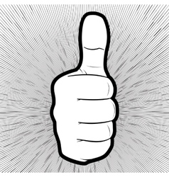 a hand showing thumbs up vector image