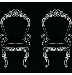 Baroque luxury style armchair furniture vector