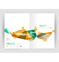 Geometric annual report business template vector image