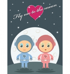 space love vector image vector image