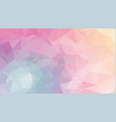Abstract irregular polygonal background pastel vector