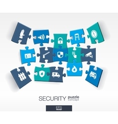 Abstract Security background with connected color vector image