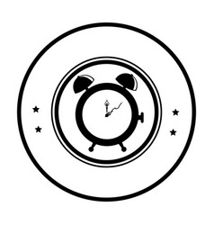 Alarm watch time isolated icon vector
