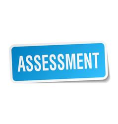 Assessment square sticker on white vector