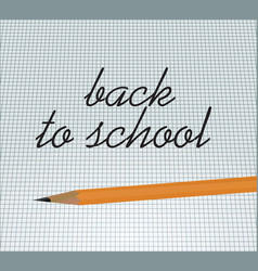 back to school notice vector image