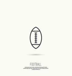 Ball for football vector image
