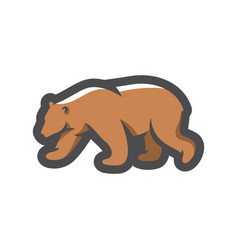 bear forest brown predator cartoon vector image