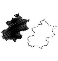 Beijing map vector