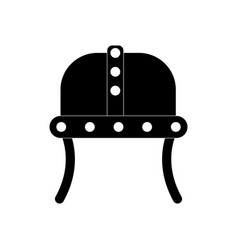 Black icon on white background ancient helmet vector