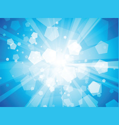 blue geometric rays background vector image