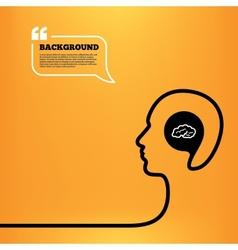Brain sign icon intelligent smart mind vector