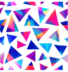 Bright triangle pattern vector
