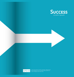 business arrow target direction concept to vector image