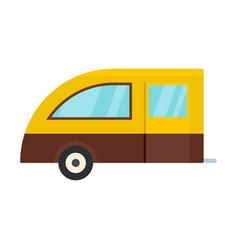 camping trailer icon flat style vector image