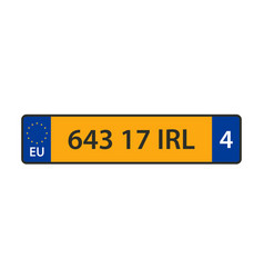 car number plate icon vector image