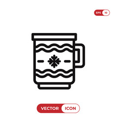christmas coffee cup icon vector image