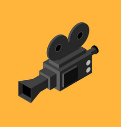 Cinema video camera isometric view vector