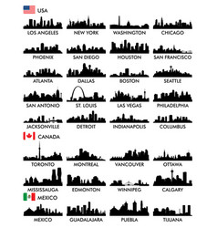 city skyline north america vector image