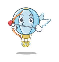 Cupid air balloon character cartoon vector