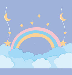 decoration and fairytale rainbow design vector image