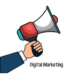 digital marketing flat icons vector image
