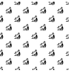 electric eco energy pattern seamless vector image