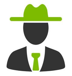 Farmer boss flat icon vector