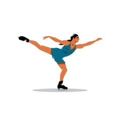 Figure skating sign vector image
