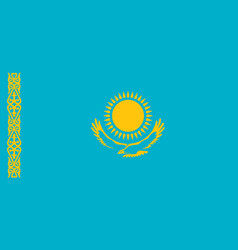 Flag of kazakhstan official colors and proportions vector