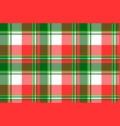 Green bright madras plaid seamless fabric texture vector
