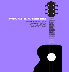 Guitar musical template vector