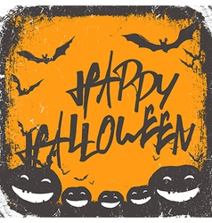 Halloween background hand drawn lettering vector