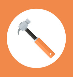 hammer icon working hand tool equipment concept vector image