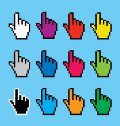 hand cursors vector image