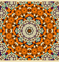 hand drawn seamless ornament in orange color vector image