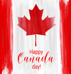 happy canada day background with watercolor vector image