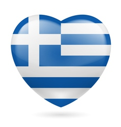 Heart icon of Greece vector image vector image