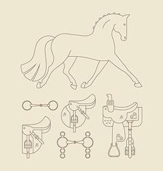 Horse Gear vector