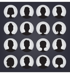 Icons set of people stylish avatars for profile vector image