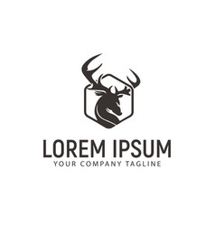 Luxury deer logo design concept template vector
