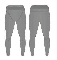Man gray elastic tight pants vector