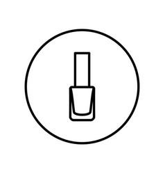 nail polish icon editable thin line vector image