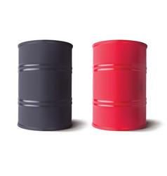 Oil barrels set 3d vector